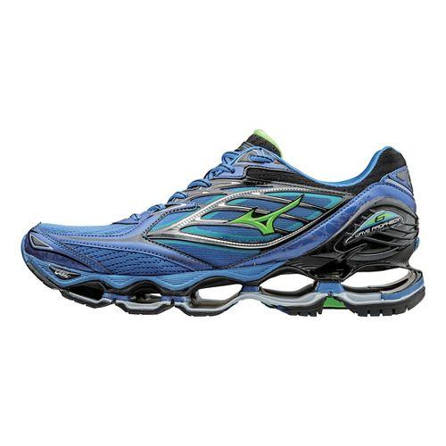 Mens Mizuno Wave Prophecy 6 Running Shoe - Strong Blue/Green 10.5