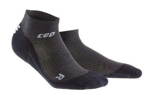 Womens CEP Dynamic+ Run Merino Low-Cut Sock Injury Recovery - Anthracite/Black S