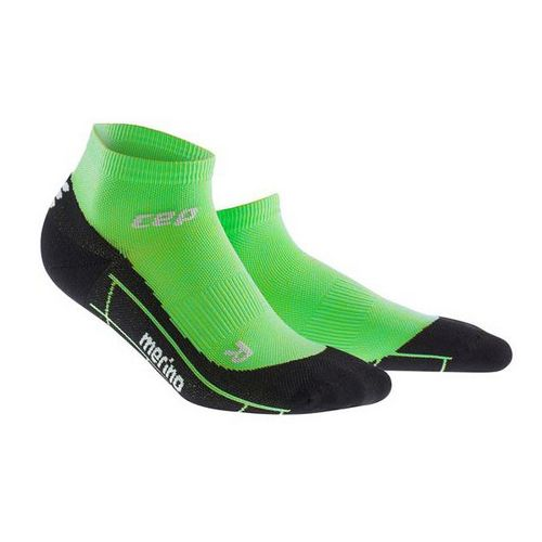Womens CEP Dynamic+ Run Merino Low-Cut Sock Injury Recovery - Viper/Black M