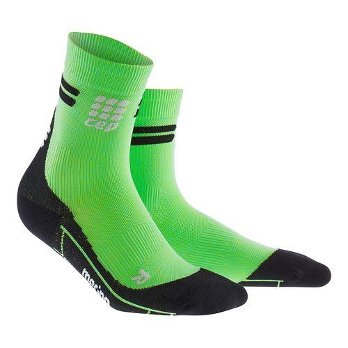 Womens CEP Dynamic+ Run Merino Short Sock Injury Recovery - Viper/Black L