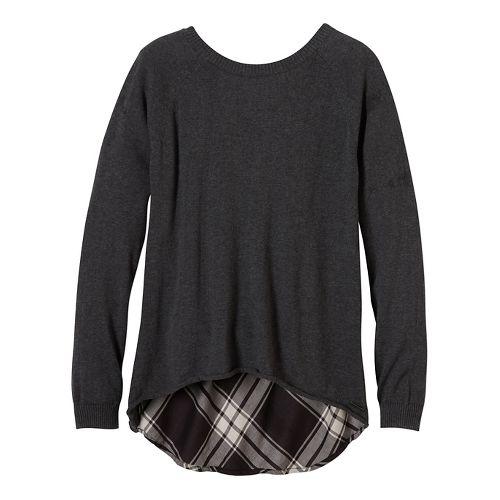 Womens prAna Natalia Sweater Long Sleeve Non-Technical Tops - Black XL