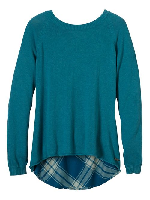 Womens prAna Natalia Sweater Long Sleeve Non-Technical Tops - Green L