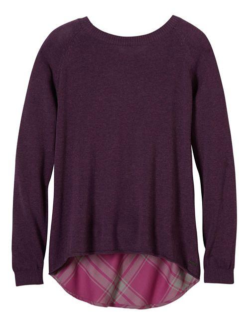 Womens prAna Natalia Sweater Long Sleeve Non-Technical Tops - Purple S