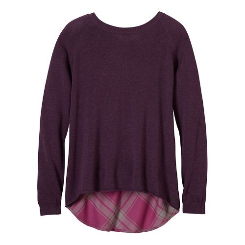 Womens prAna Natalia Sweater Long Sleeve Non-Technical Tops - Purple S