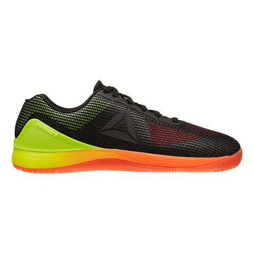 Mens Reebok CrossFit Nano 7.0 Cross Training Shoe - Black/Vitamin C 10.5