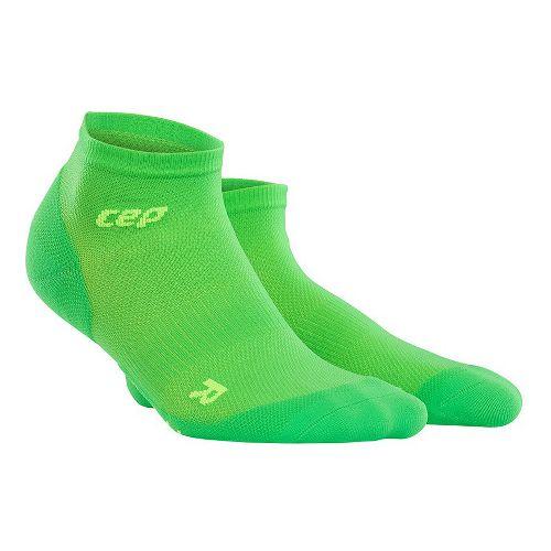 Womens CEP Dynamic+ Run Ultralight Low-Cut Sock Injury Recovery - Viper/Green M