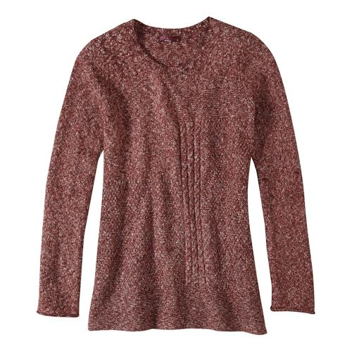 Womens prAna Nolan Sweater Long Sleeve Non-Technical Tops - Red M