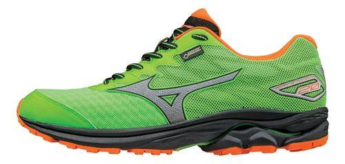 Mens Mizuno Wave Rider 20 GTX Running Shoe - Green Gecko/Orange 7