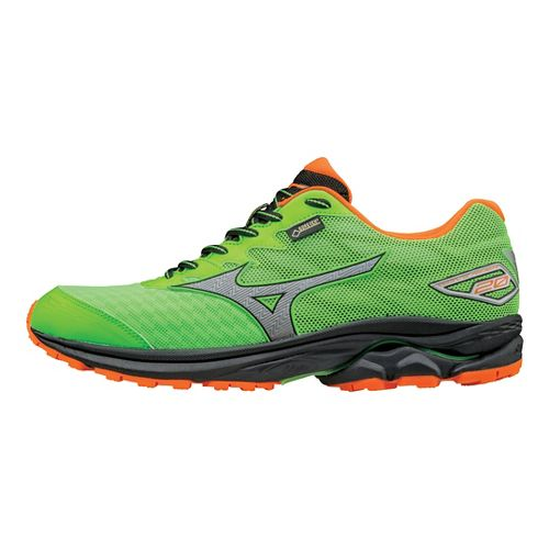 Mens Mizuno Wave Rider 20 GTX Running Shoe - Green Gecko/Orange 13