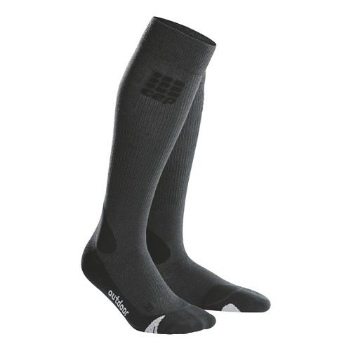 Womens CEP Progressive+ Outdoor Merino Sock Injury Recovery - Grey/Black L