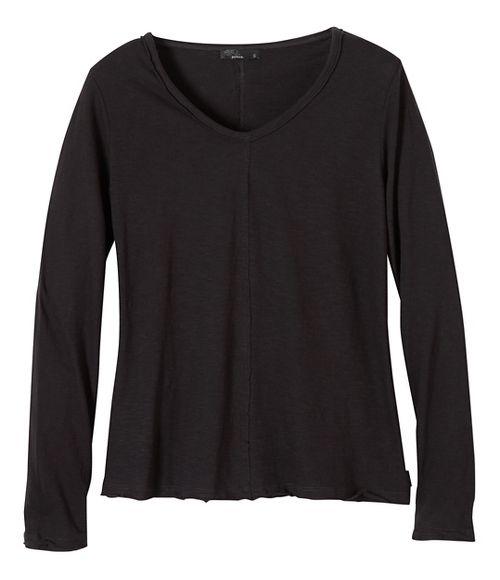 Womens prAna Romina Long Sleeve Non-Technical Tops - Black M