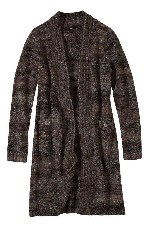 Womens prAna Sabina Duster Casual Jackets - Black XL