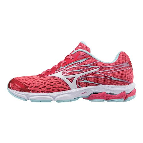 Womens Mizuno Wave Catalyst 2 Running Shoe - Pink/White 8.5