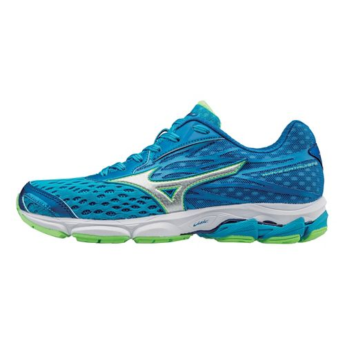 Womens Mizuno Wave Catalyst 2 Running Shoe - Atomic Blue/Green 10.5