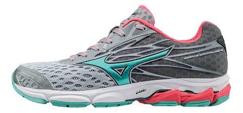 Womens Mizuno Wave Catalyst 2 Running Shoe - Grey/Turquoise 10.5