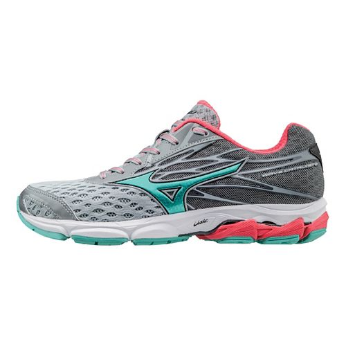 Womens Mizuno Wave Catalyst 2 Running Shoe - Grey/Turquoise 11