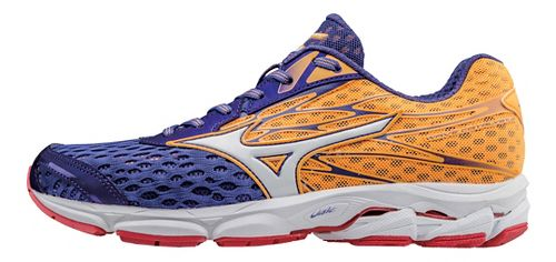 Womens Mizuno Wave Catalyst 2 Running Shoe - Purple/Orange 7.5