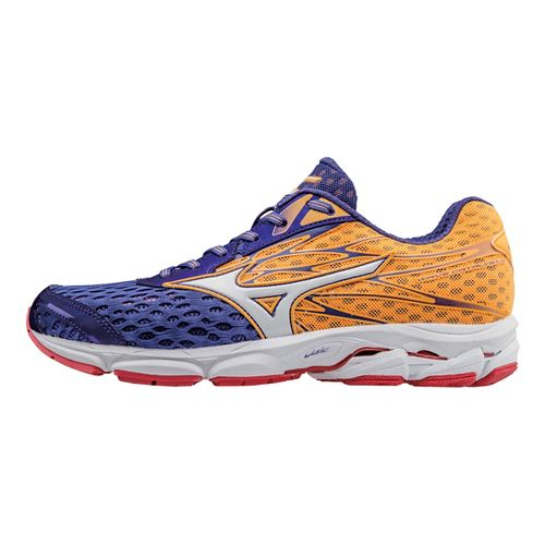 Womens Mizuno Wave Catalyst 2 Running Shoe - Purple/Orange 6.5