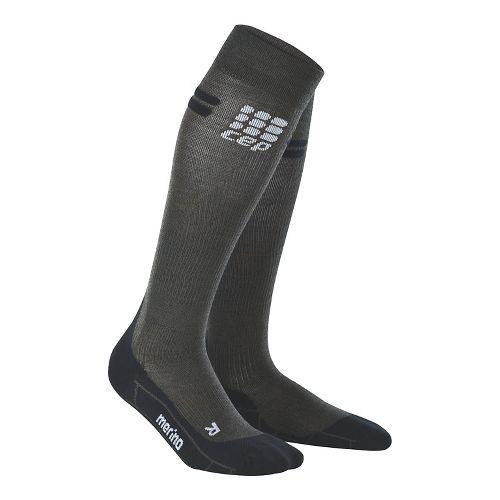 Womens CEP Progressive+ Run Merino Sock Injury Recovery - Anthracite/Black S