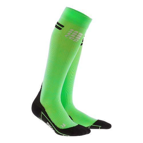Womens CEP Progressive+ Run Merino Sock Injury Recovery - Viper/Black S