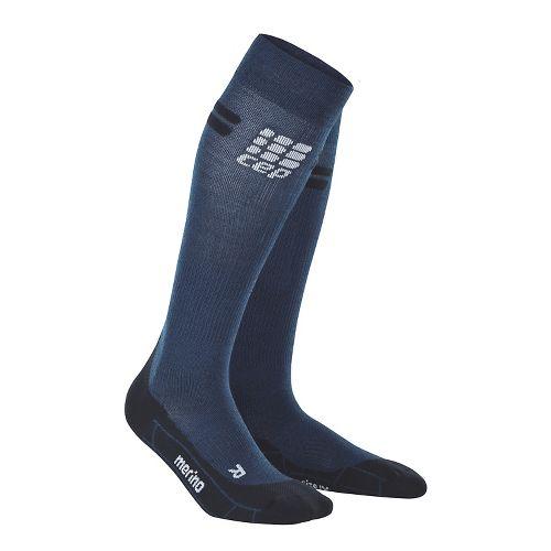 Womens CEP Progressive+ Run Merino Sock Injury Recovery - Navy/Black L