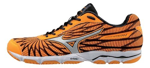 Womens Mizuno Wave Hitogami 4 Running Shoe - Orange/Black 9