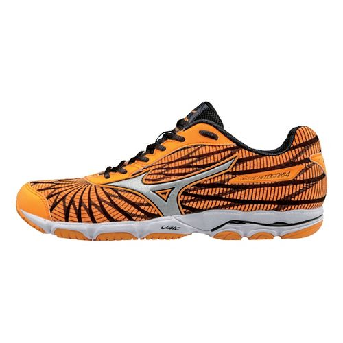Womens Mizuno Wave Hitogami 4 Running Shoe - Orange/Black 10.5