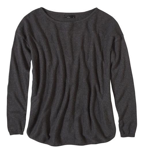 Womens prAna Stacia Sweater Long Sleeve Non-Technical Tops - Black XL