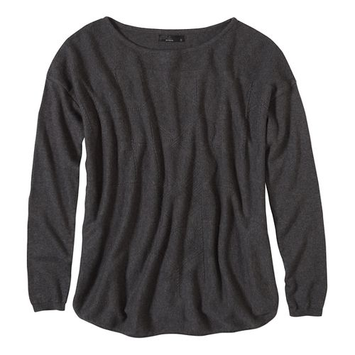 Womens prAna Stacia Sweater Long Sleeve Non-Technical Tops - Black M