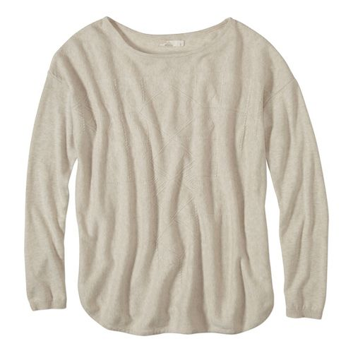 Womens prAna Stacia Sweater Long Sleeve Non-Technical Tops - White XL