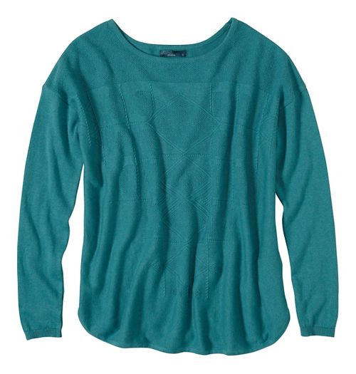 Womens prAna Stacia Sweater Long Sleeve Non-Technical Tops - Green XL