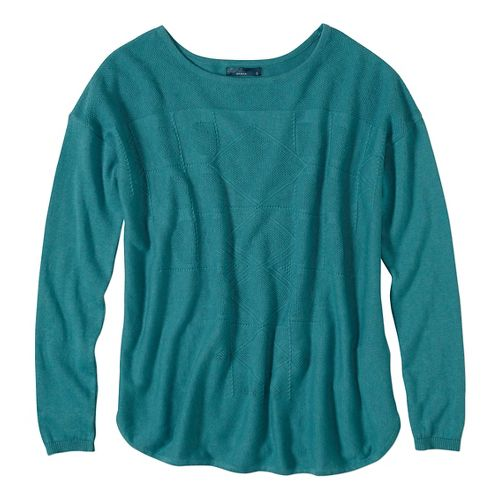 Womens prAna Stacia Sweater Long Sleeve Non-Technical Tops - Green L