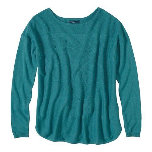Womens prAna Stacia Sweater Long Sleeve Non-Technical Tops - Green S