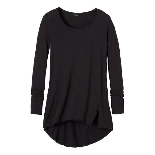 Womens prAna Stellan Tunic Long Sleeve Non-Technical Tops - Black S