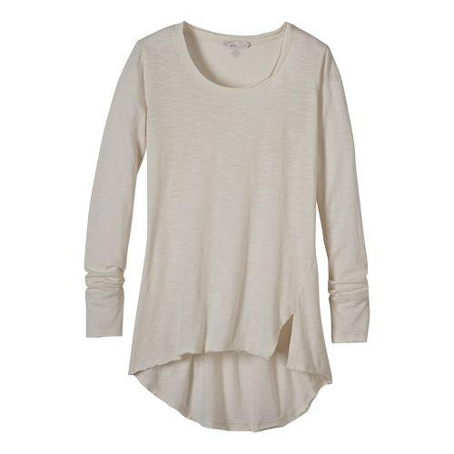Womens prAna Stellan Tunic Long Sleeve Non-Technical Tops - White M