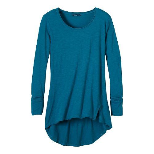 Womens prAna Stellan Tunic Long Sleeve Non-Technical Tops - Green L