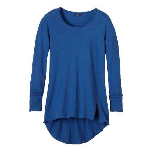 Womens prAna Stellan Tunic Long Sleeve Non-Technical Tops - Blue M