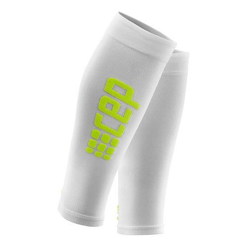 Womens CEP Progressive+ Run Ultralight Calf Sleeve 2.0 Injury Recovery - White/Green S