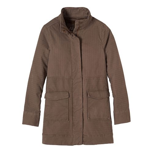 Womens prAna Trip Cold Weather Jackets - Brown L