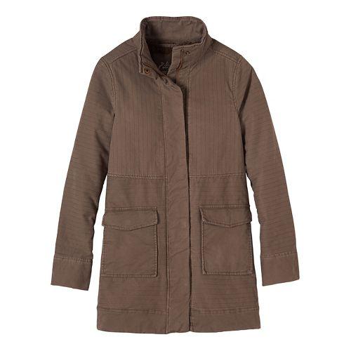 Womens prAna Trip Cold Weather Jackets - Brown XL