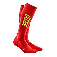 Womens CEP Progressive+ Ultralight Compression Run Socks Injury Recovery - Red/Green S