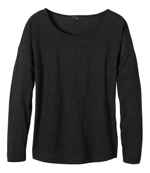 Womens prAna Vicky Long Sleeve Non-Technical Tops - Black XS