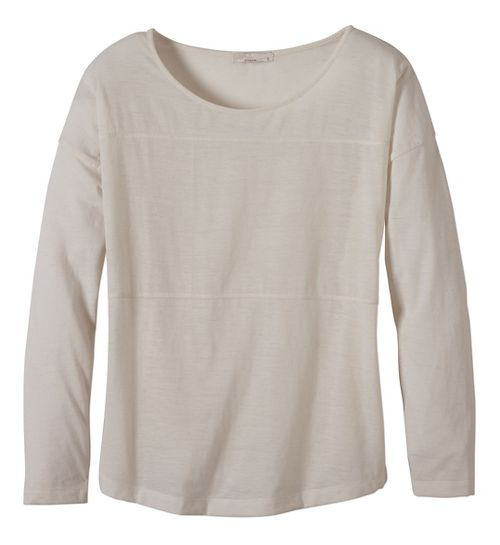 Womens prAna Vicky Long Sleeve Non-Technical Tops - White M