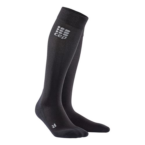 Womens CEP Recovery+ Merino Sock Injury Recovery - Black S