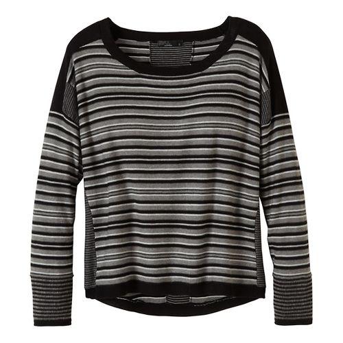 Womens prAna Whitley Sweater Long Sleeve Non-Technical Tops - Black XL