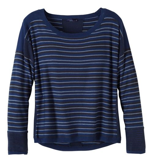Womens prAna Whitley Sweater Long Sleeve Non-Technical Tops - Blue M