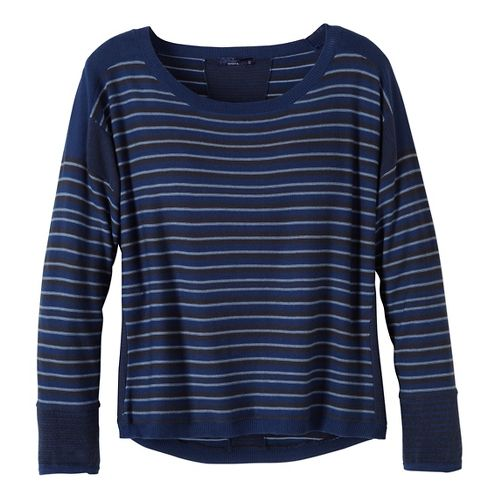 Womens prAna Whitley Sweater Long Sleeve Non-Technical Tops - Blue XL