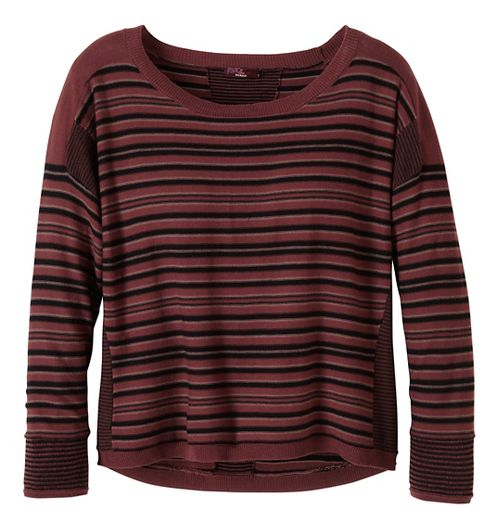 Womens prAna Whitley Sweater Long Sleeve Non-Technical Tops - Red XS