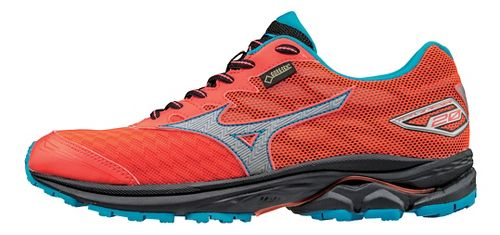 Womens Mizuno Wave Rider 20 GTX Running Shoe - Coral/Blue 11