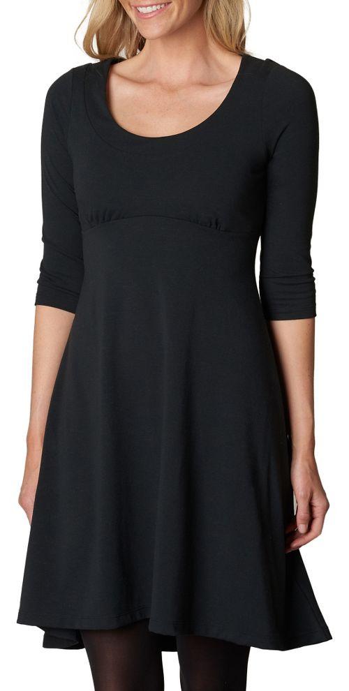 Womens prAna Cali L/S Dresses - Black XS